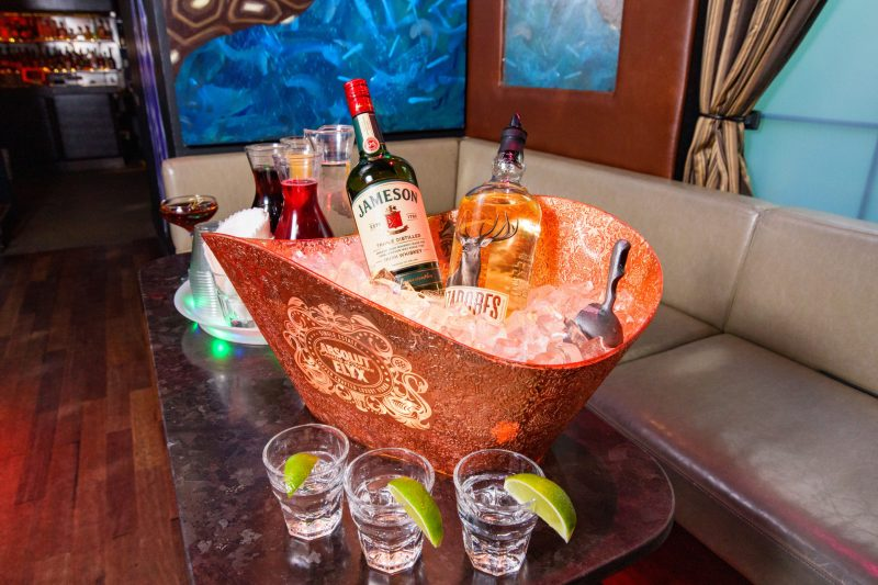 Bottle Service Is Available to VIP Parties
