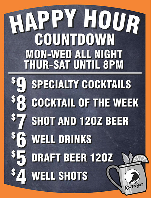 Happy Hour Count Down at Raven Bar in San Francisco