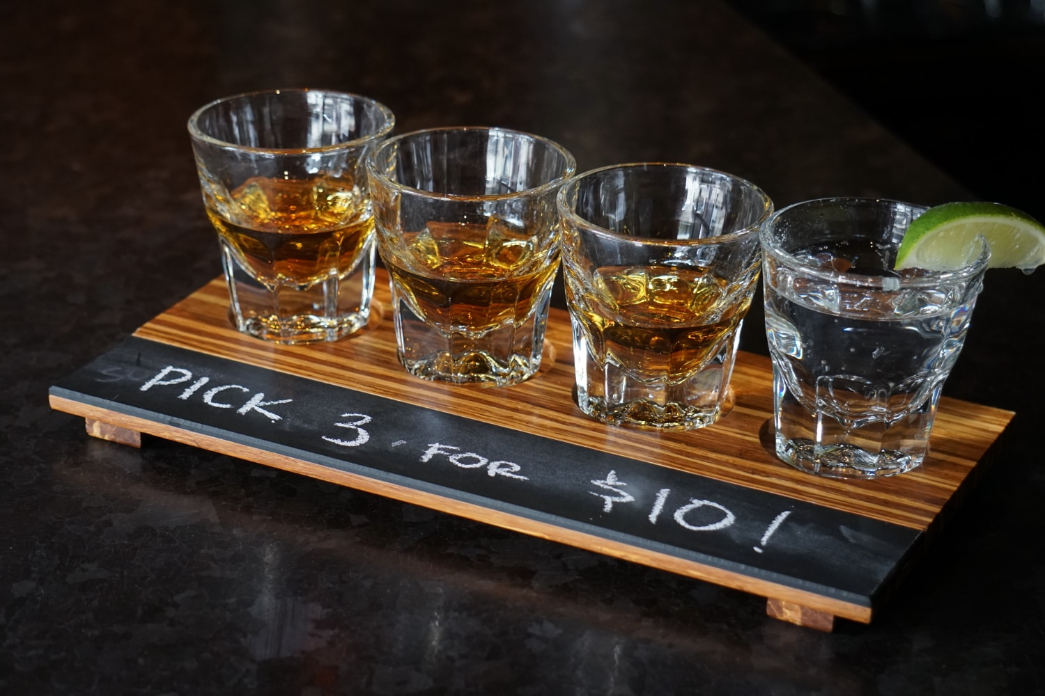 Try Our 3 Pour Whiskey Flights for only $10